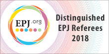 Distinguished EPJ Referees
